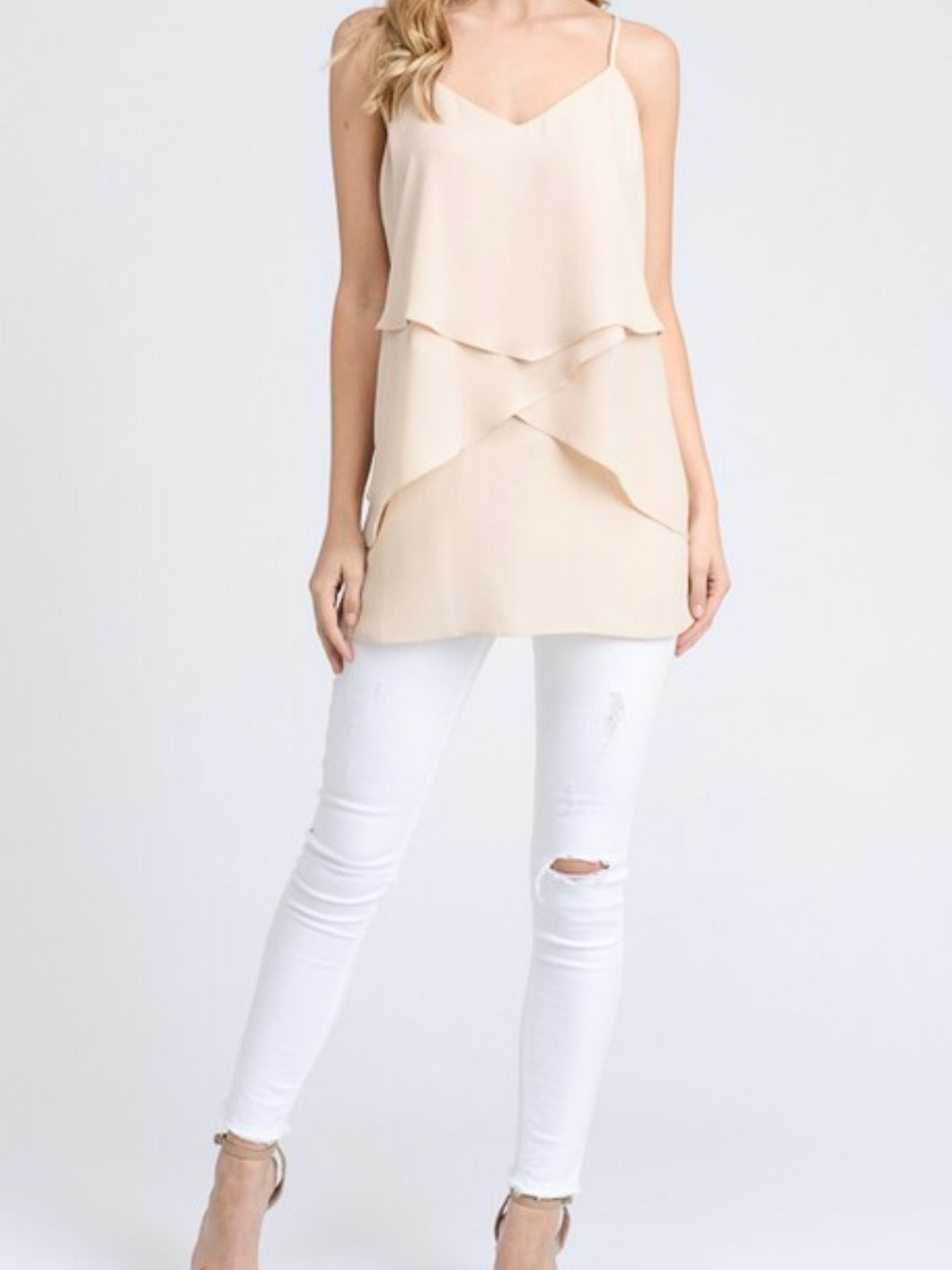 Notice Me Cream Layered Top