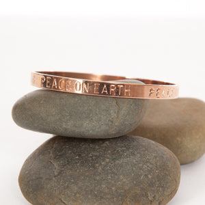 Peace on Earth bangle