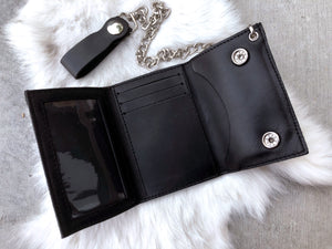 Chain Wallet + Turquoise Pendant