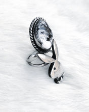 Load image into Gallery viewer, Stone Cold Bunny Ring- White Buffalo Size 7.75