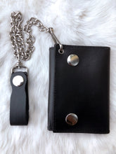 Load image into Gallery viewer, Chain Wallet + Turquoise Pendant