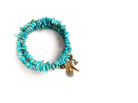 Spirit World Turquoise Wrap Bracelet