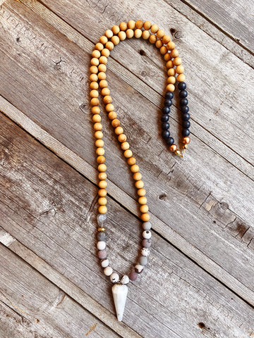 Moonstone Pendulum + Rainbow Jasper Necklace