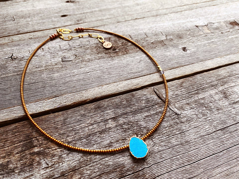Electroplated Turquoise Necklace