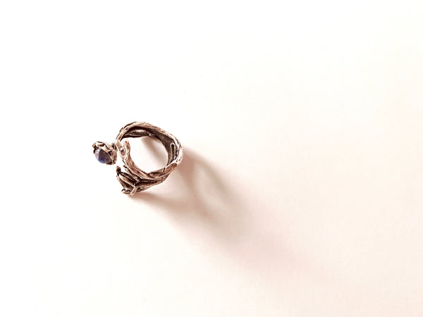Moonstone Branch Ring