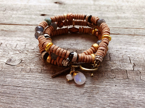 Leather Wrap Bracelet: Inner Light