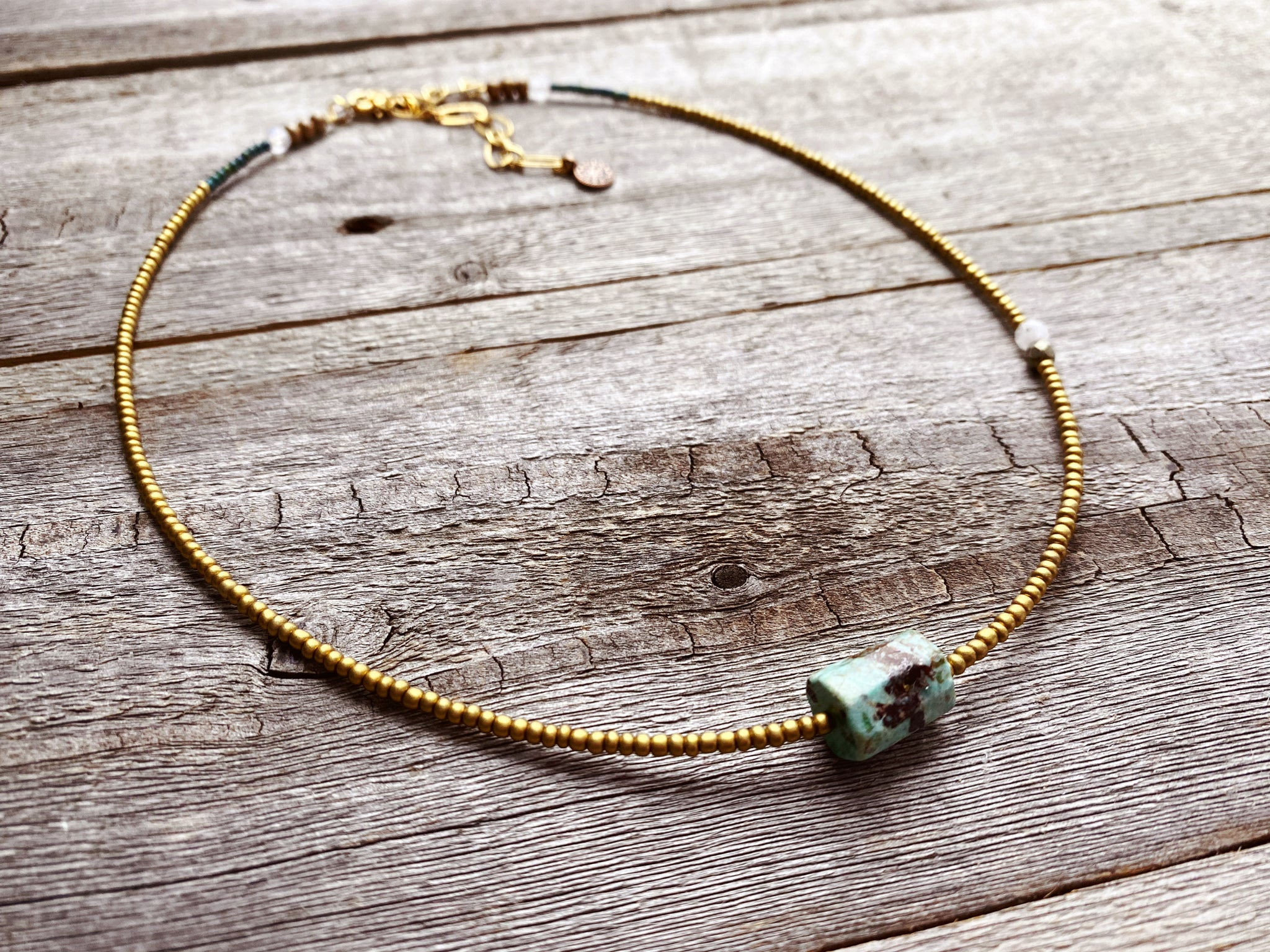 Peruvian Turquoise Barrel Necklace 3