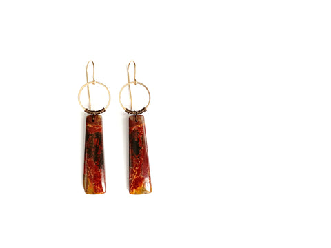 Aurora Earring ~ Red Creek Jasper