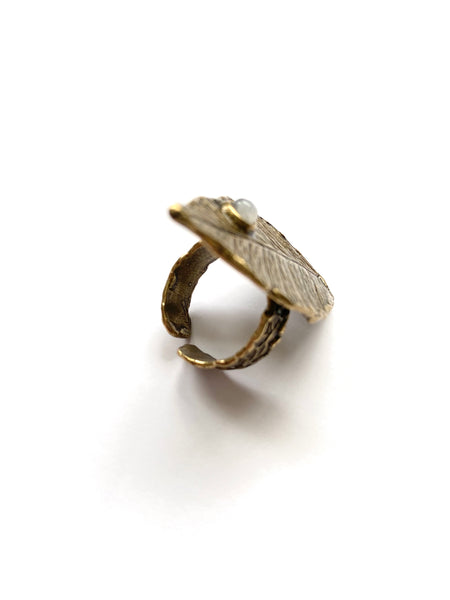 WYLD Leaf Ring (Brass)