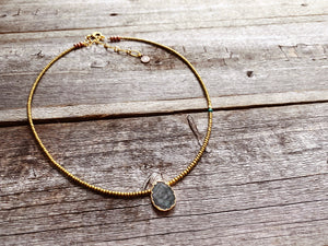 Electroplated Labradorite Necklace