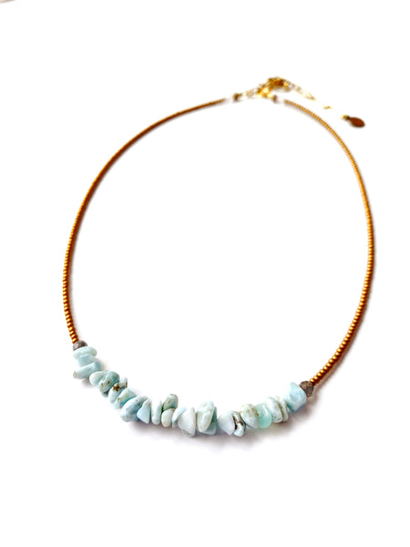 Larimar Chip Necklace