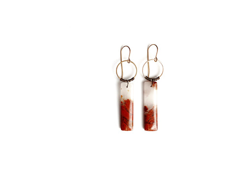 Aurora Earring ~ Red River Jasper