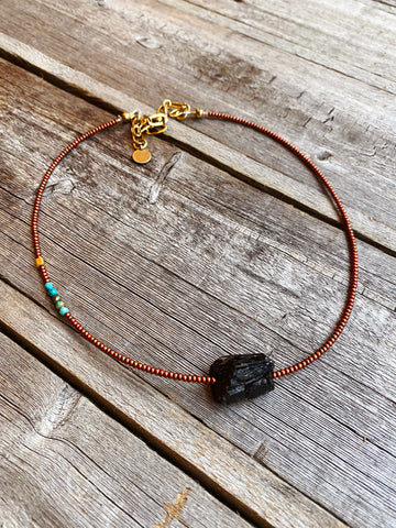 Raw Tourmaline Force Necklace