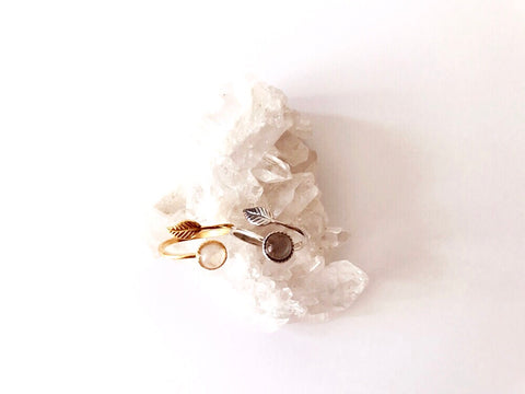 Feather Flight Gemstone Ring