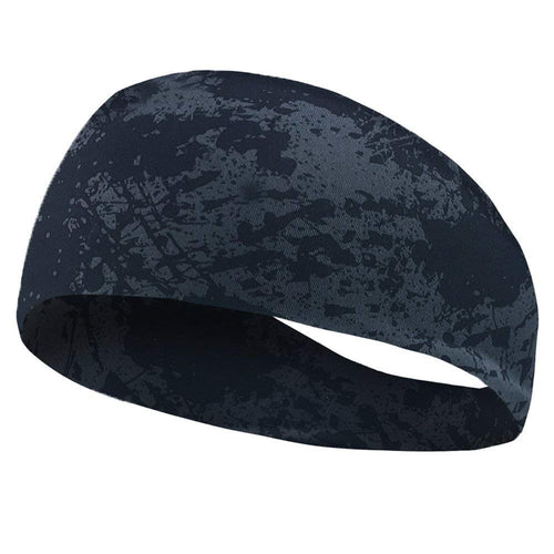 Yoga Sport Sweat Absorbent Headband for Men (Black Camouflage)