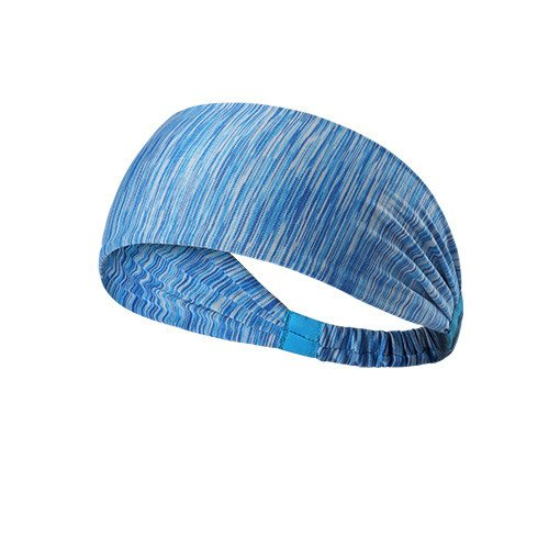 Yoga Sport Athletic Headband Sweatband  (Blue Stripes)