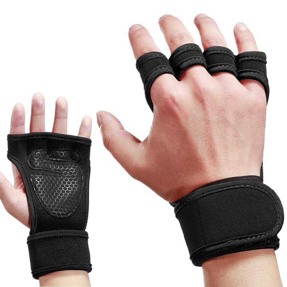 Upgraded Palm Protection Gym Gloves