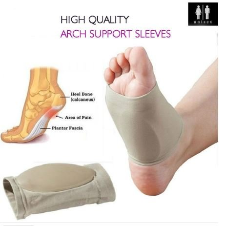 2 Pieces Foot Care Plantar Fasciitis Arch Support Sleeve Free Size
