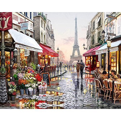 DIY Oil Painting - Paint by Numbers Paris Street