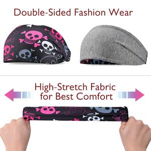 Multifunctional Double Sided Headbands for both Men and Women
