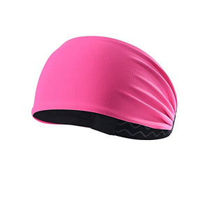 Advanced Sports Headband With Silicone Gel Bars (Pink)