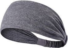 Load image into Gallery viewer, Yoga Sport Athletic Travel Fitness Elastic Headband (Cement)