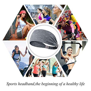 Yoga Sport Athletic Travel Fitness Elastic Headband (Cement)