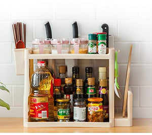SKUDGEAR Kitchen Spice Rack Organizer Knife Board Holder, Spoons Cup, Bathroom Shampoo Bottles Soap Holder