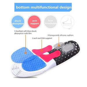 Pair of Arch Support Foot Insoles Orthopedic Shoe Insoles for Both Men and Women (Size: 8-12)