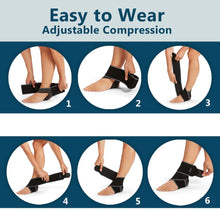 Load image into Gallery viewer, SKUDGEAR Adjustable Ankle Support Compression Brace with Silicone Strips for Sports Protection, Running, Pain Relief (Free Size)