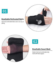 Load image into Gallery viewer, Adjustable Wrist Support Brace with Built-in Mesh Support (Left Hand)