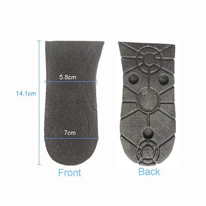 Heightening 3 Layer Half Pad Insoles