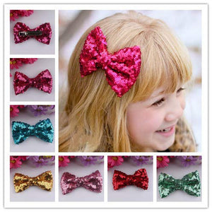 Pack of 6 Glitter Shining Baby Hair Clips