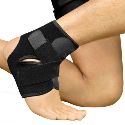 Advanced Breathable Neoprene Ankle Support Compression Brace for Injuries, Pain Relief and Recovery (Free Size)