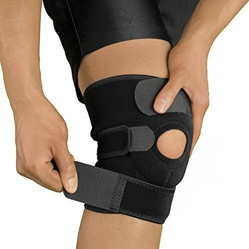 Breathable Neoprene Open Patella Knee Support Adjustable Strap (Free Size)