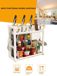 2-Tier Multi-Functional Kitchen Spice Rack  (Model 2)