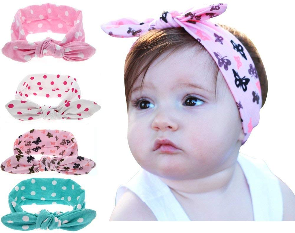 Pack of 4 Baby Headbands