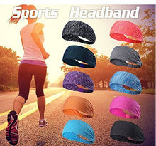 Load image into Gallery viewer, Yoga Sport Athletic Fitness Travel Non-Slip Headband for both Men & Women (Blue)