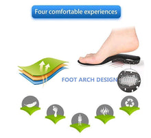 Load image into Gallery viewer, Pair of Arch Support Foot Insoles Orthopedic Shoe Insoles for Both Men and Women (Size: 8-12)