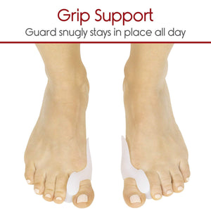2 Piece Gel Toe Separators, Straighteners And Spreader For Perfect Toe Alignment