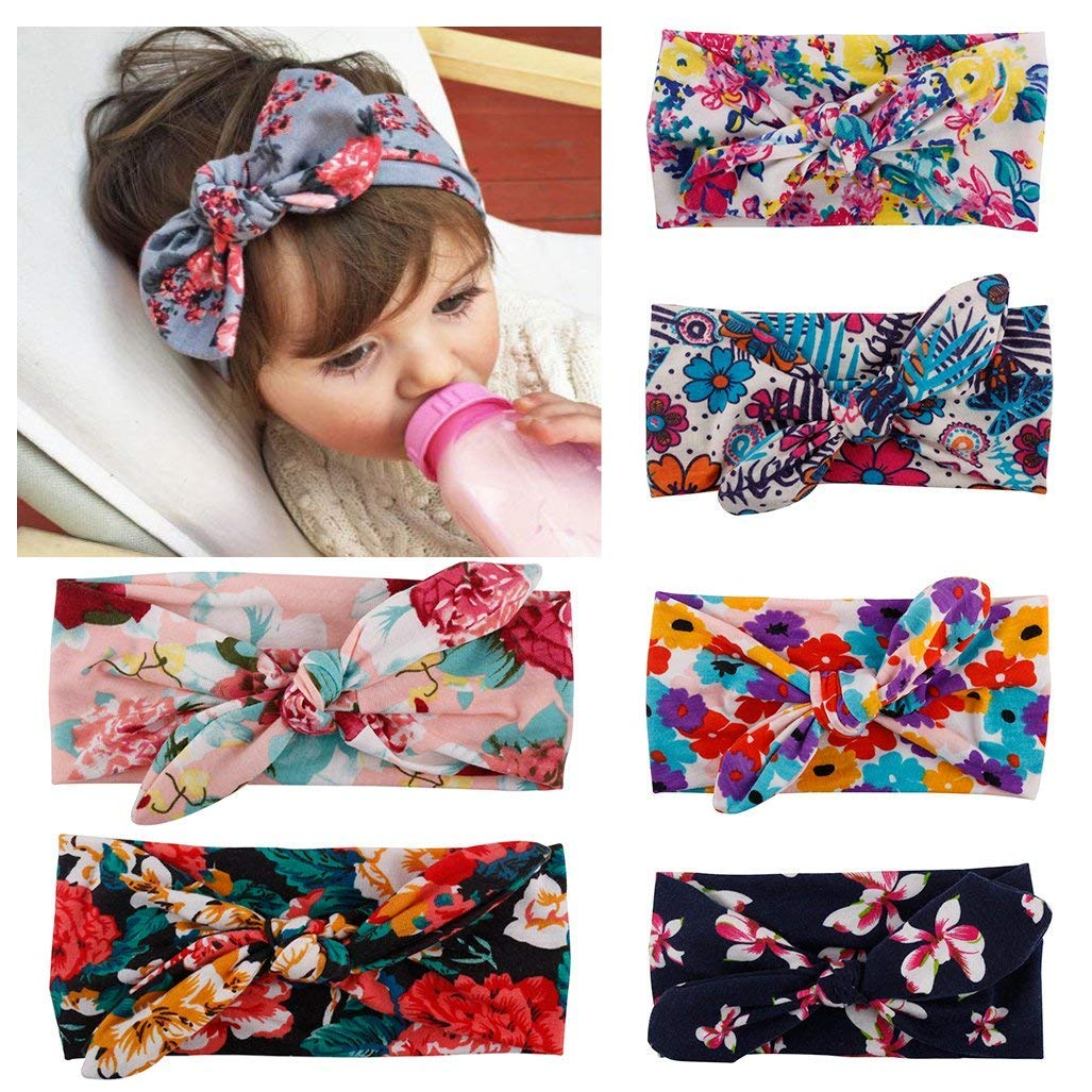 Pack of 6 Baby Headbands (Multicolor)