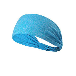 Yoga Sport Athletic Fitness Travel Headband  (Blue Dotted)