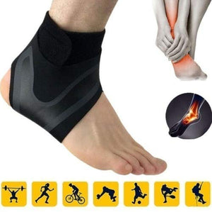Breathable Neoprene Ankle Support Brace (Right Foot, Size:M)