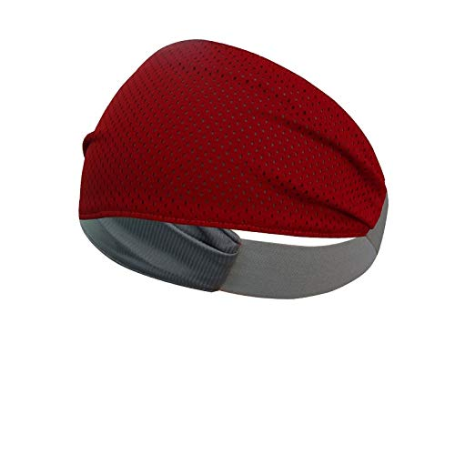 Multipurpose Double Sided Vented Headband (Red)