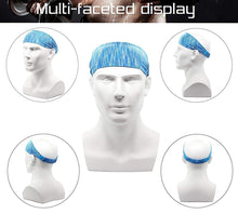 Load image into Gallery viewer, Yoga Sport Athletic Fitness Travel Headband  (Blue Dotted)