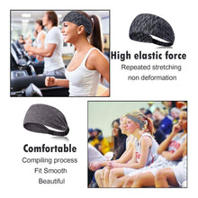 Load image into Gallery viewer, Yoga Sport Athletic Fitness Travel Non-Slip Headband for both Men & Women (Pure Black)