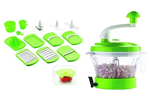 2057  Kitchen Manual Food Processor - Chopper, Blender, Atta Maker, Dough Kneader