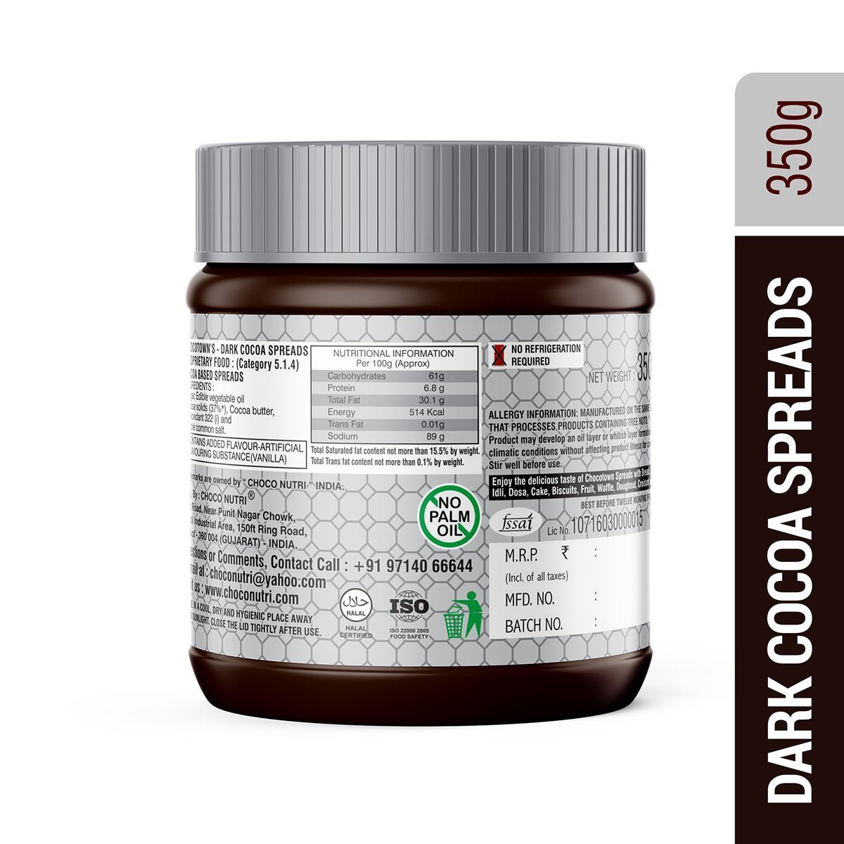 055_Choco Nutri Chocolate Spreads - Premium Dark Chocolate Spread - 350 gm