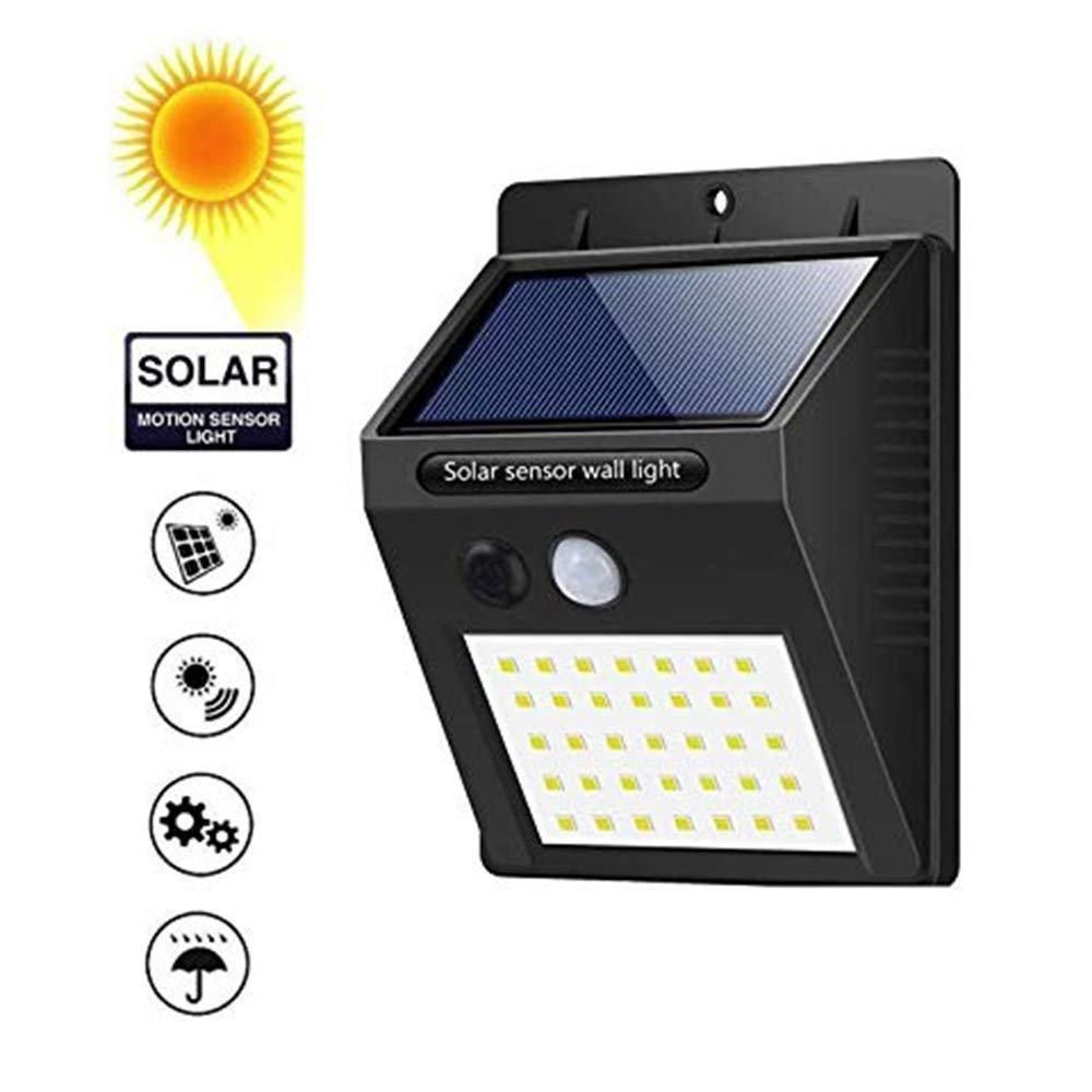 213 Solar Security LED Night Light for Home Outdoor/Garden Wall (Black) (20-LED Lights)