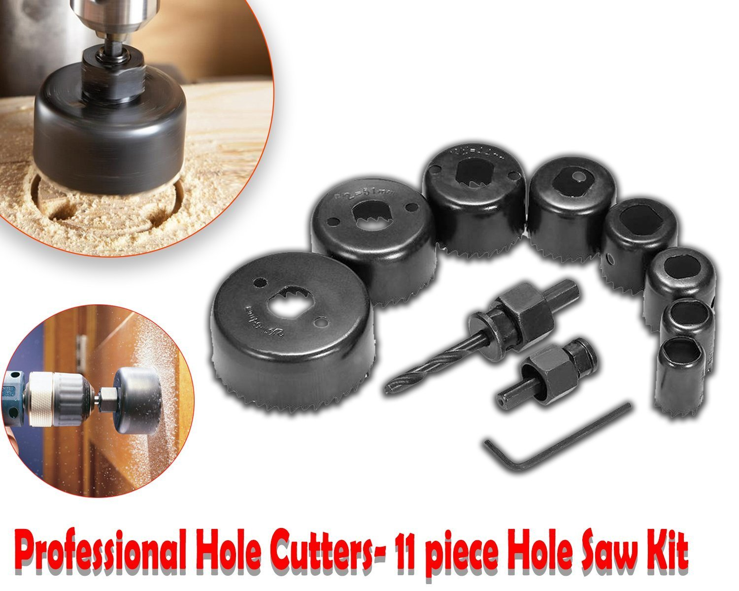 Your Brand Professional 11 Pieces Hole Saw Cutter Set Cutting Tool with 24 Pieces T Spanner Socket Set